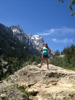 Tine H. Tackles the grand tetons