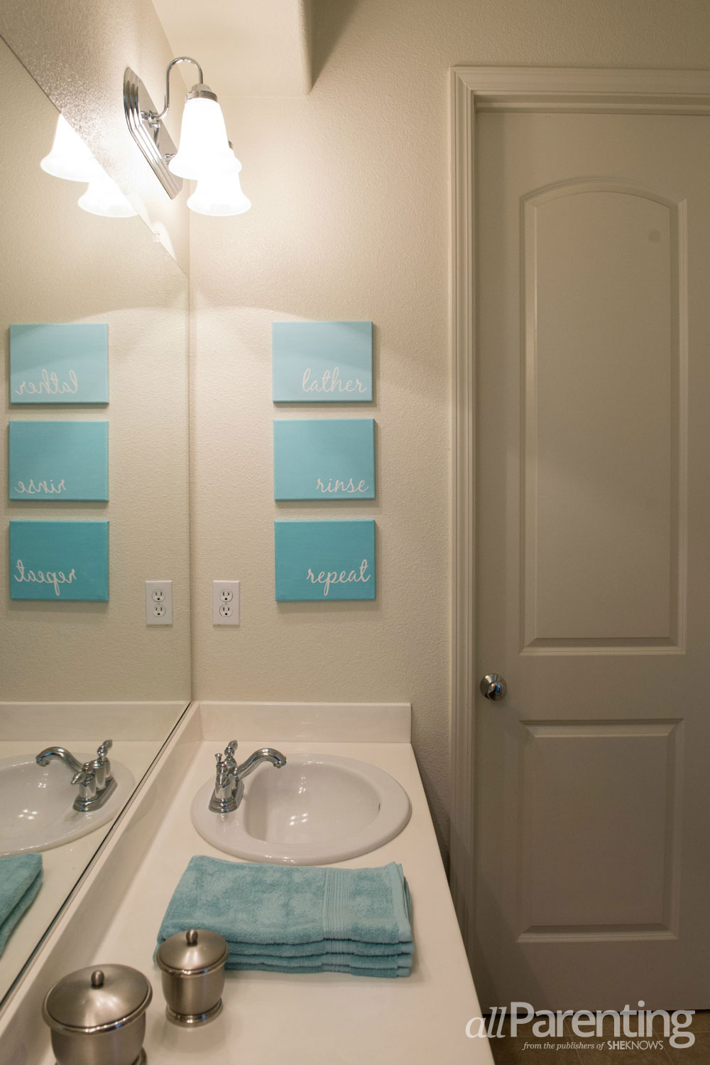 AllParenting DIY Bathroom Canvas Art