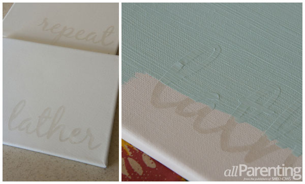 Bathroom Pictures And Canvases : Diy bathroom canvas art