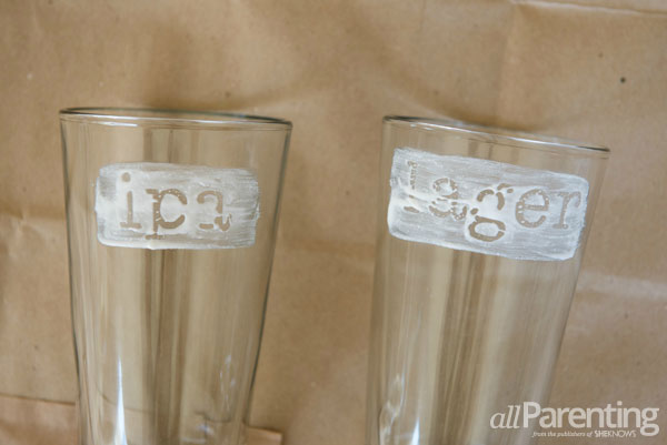 allParenting Etched beer glasses step 4