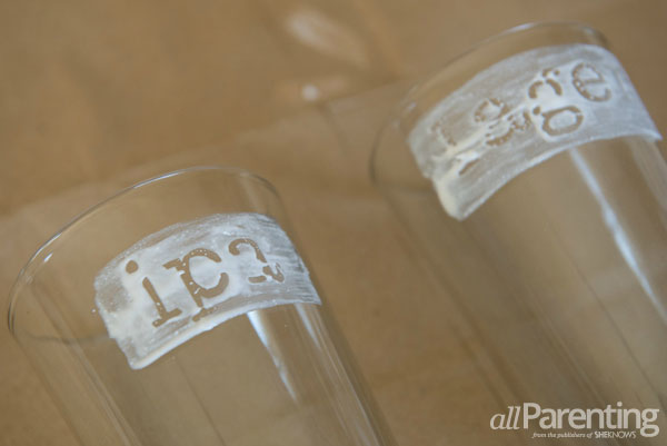 allParenting Etched beer glasses step 6