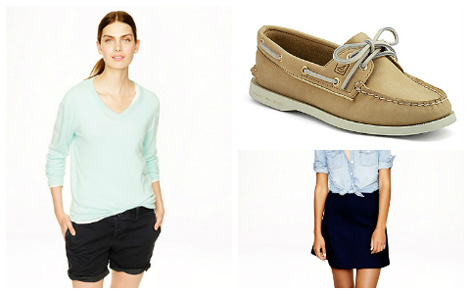 Boat shoes collage one