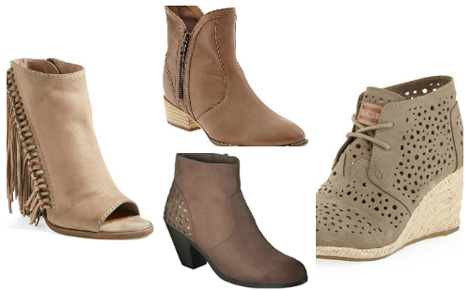 Boho chic collage of boots