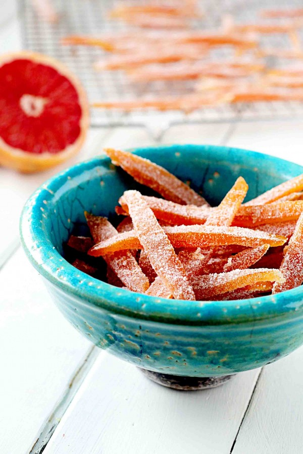 Candied cardamom grapefruit