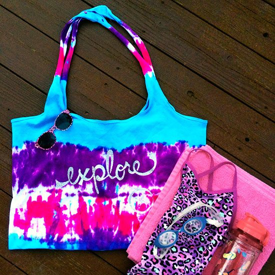 Tie dyed summer tote