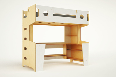 Sleep like a kid again. These bunk beds are cool enough for an adult space.