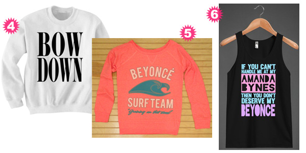 stylish shirts with Beyonce references