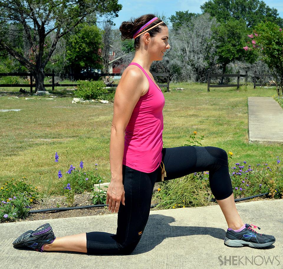 Dynamic hip flexor stretch