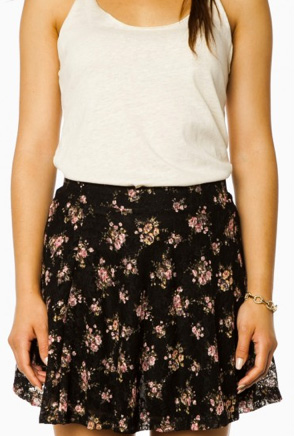 Shop the look: Flowering Garden Skirt in Black (shopsosie.com, $27)