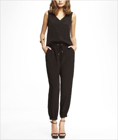 Shop the look: Express V-Neck Jumpsuit (express.com, $128)