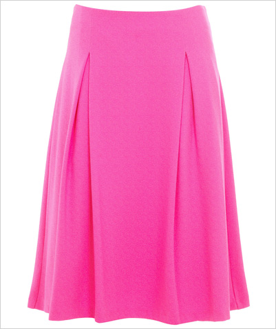 Shop the look: Miss Selfridge Pink Crepe A Line Midi Skirt (us.missselfridge.com, $61)