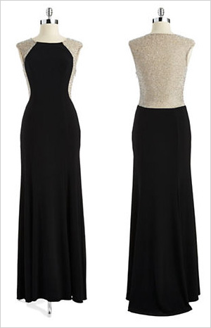 Shop the look: Xscape Gemstone Embellished Gown (lordandtaylor.com, $229)