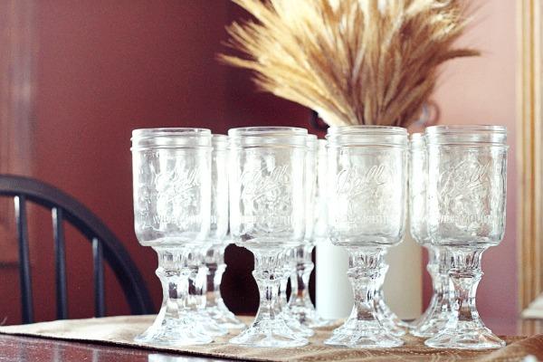 Put those Mason jars to use while entertaining