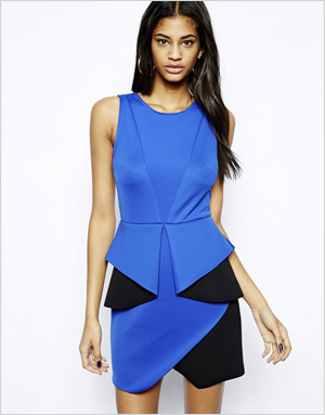 Colorblocked origami dress