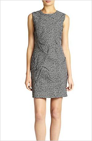 Tweed jacquard dress