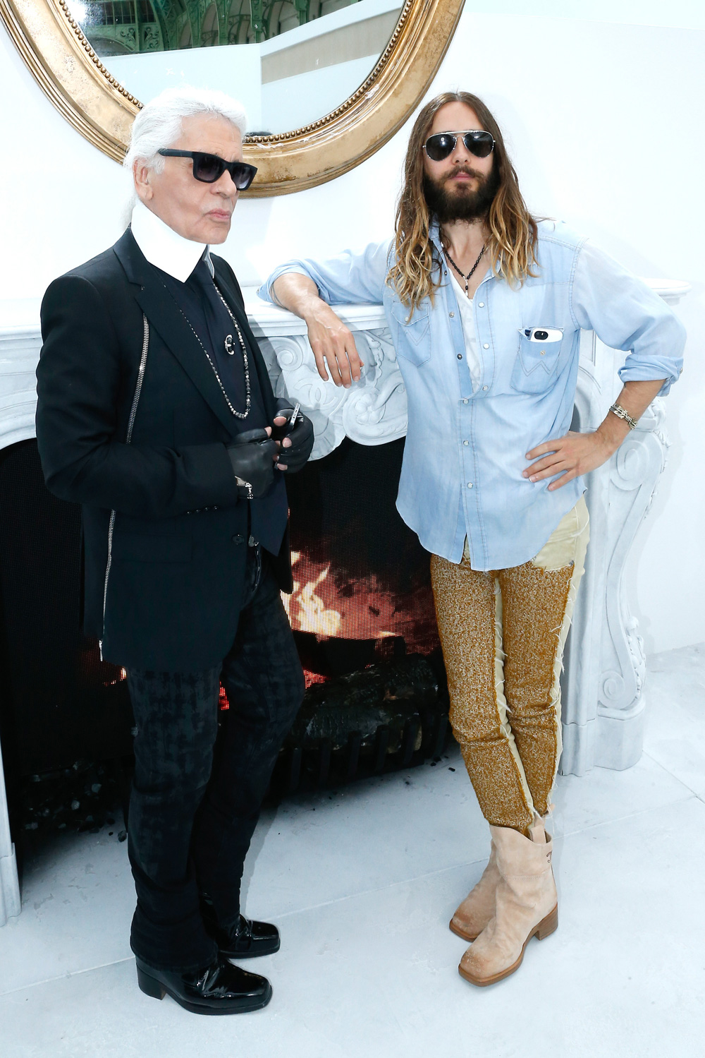Jared Leto at Paris Fashion Week