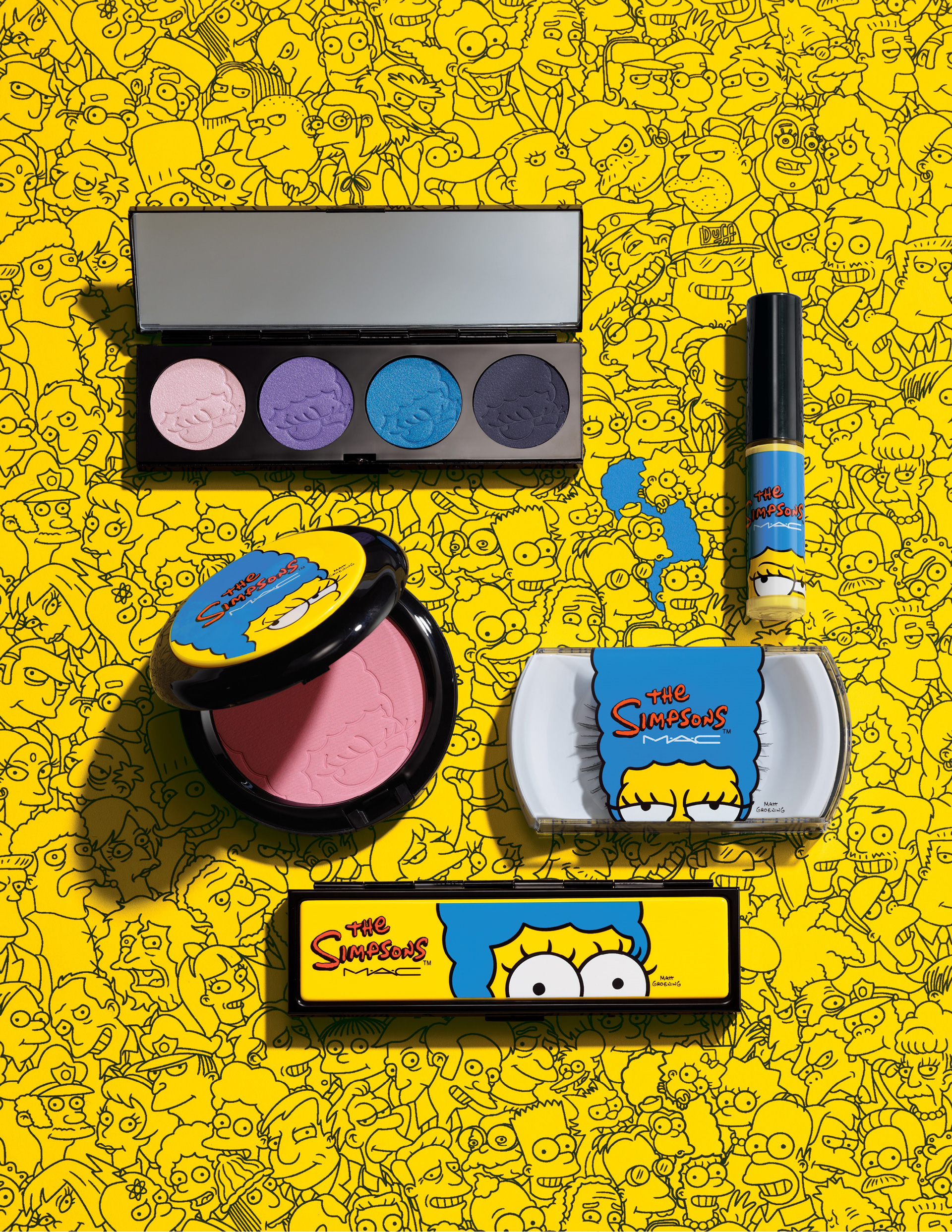MAC's Marge Simpson inspired makeup