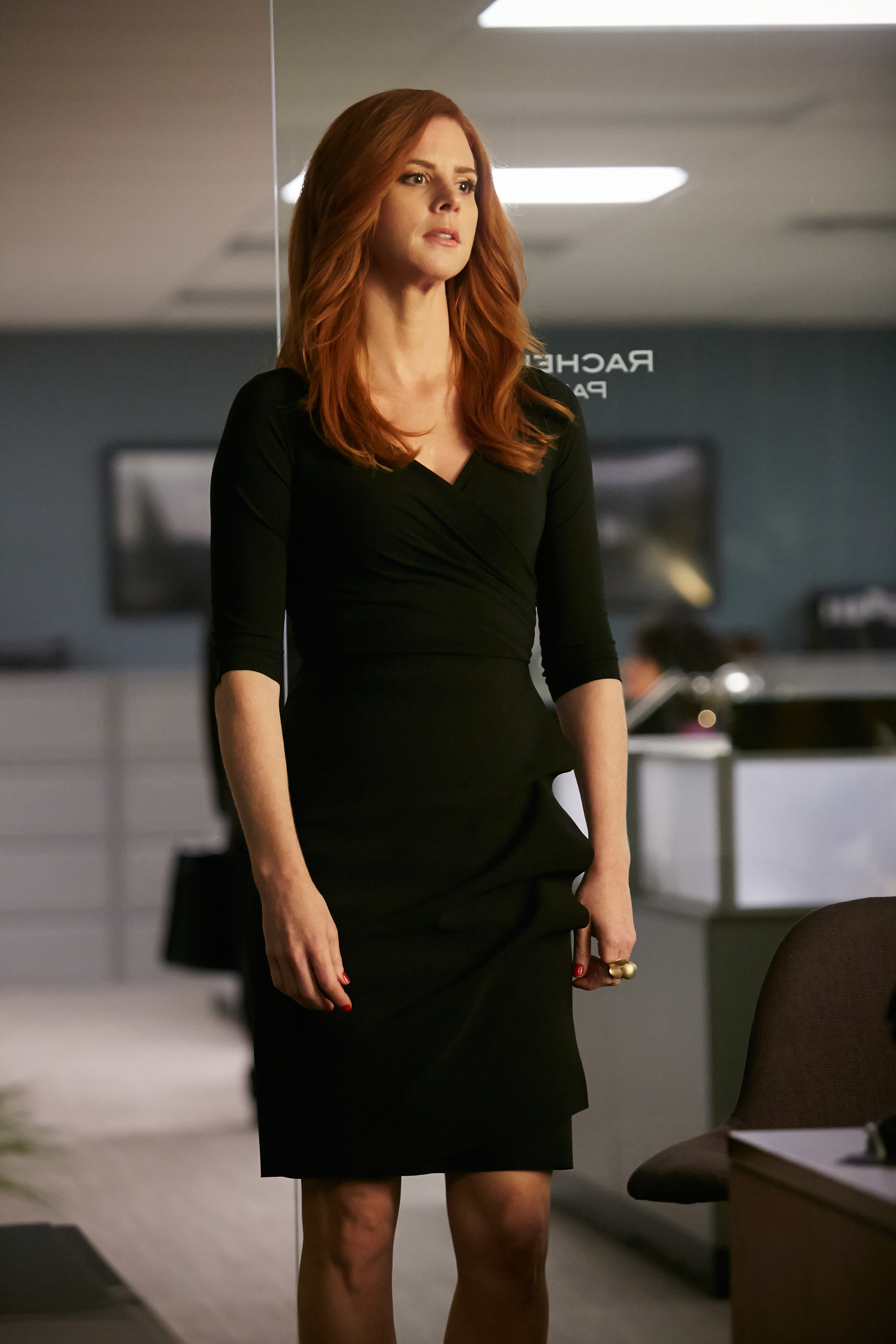 Suits Black Wrap Dress