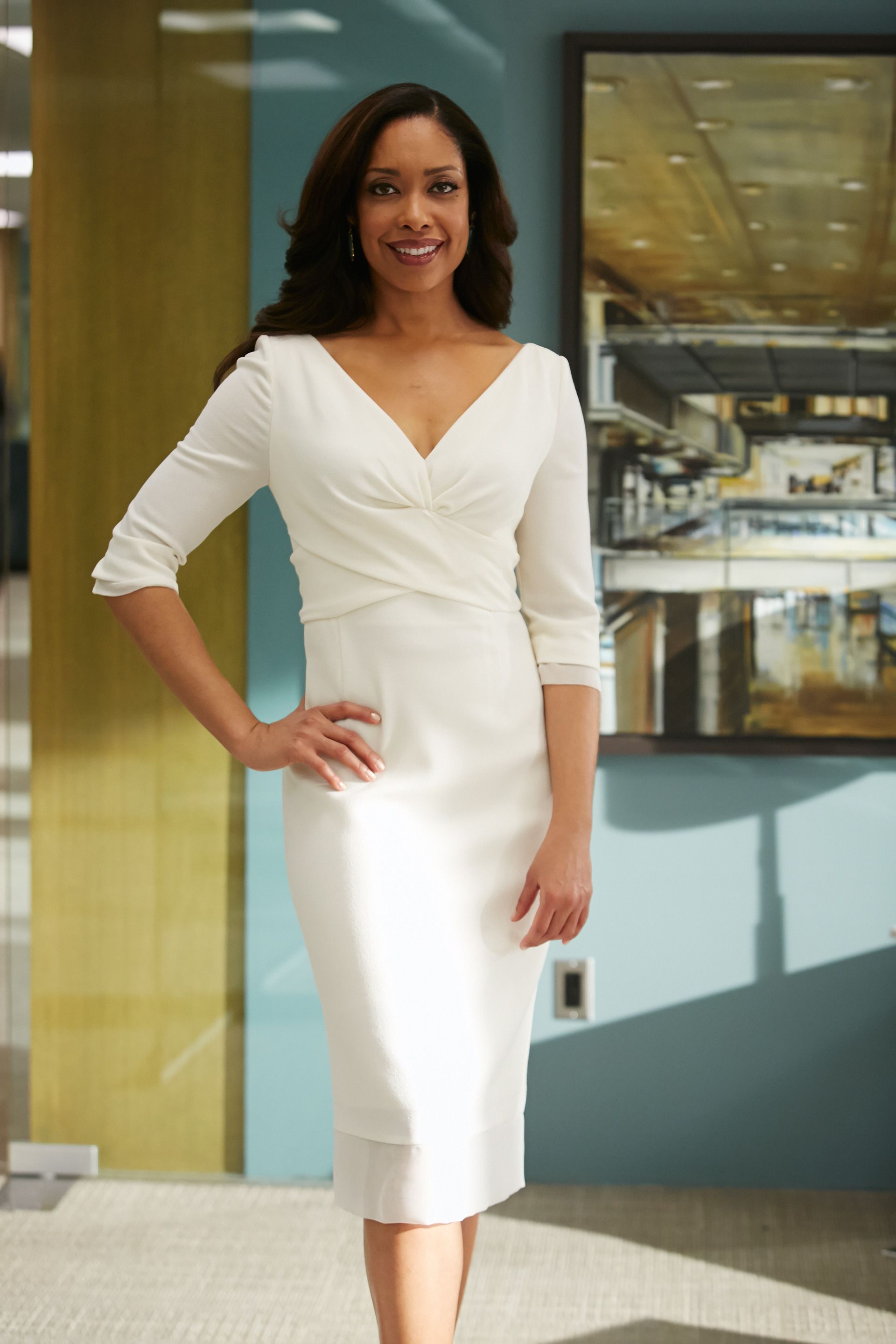 Exclusive fashion photos from Suits: White dress