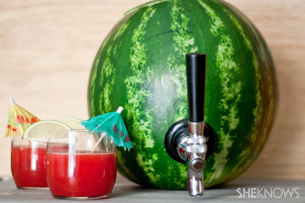 Craving more boozy watermelon fun? Make this watermelon keg.