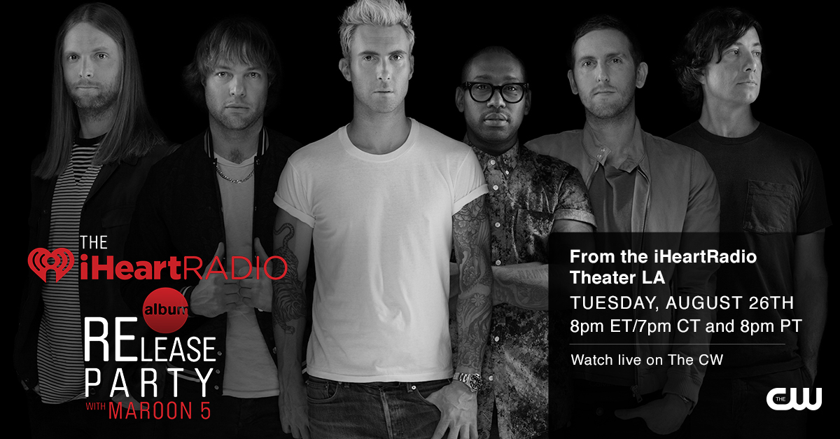 Sweet! iHeartRadio and The CW team up for a Maroon 5 album release party