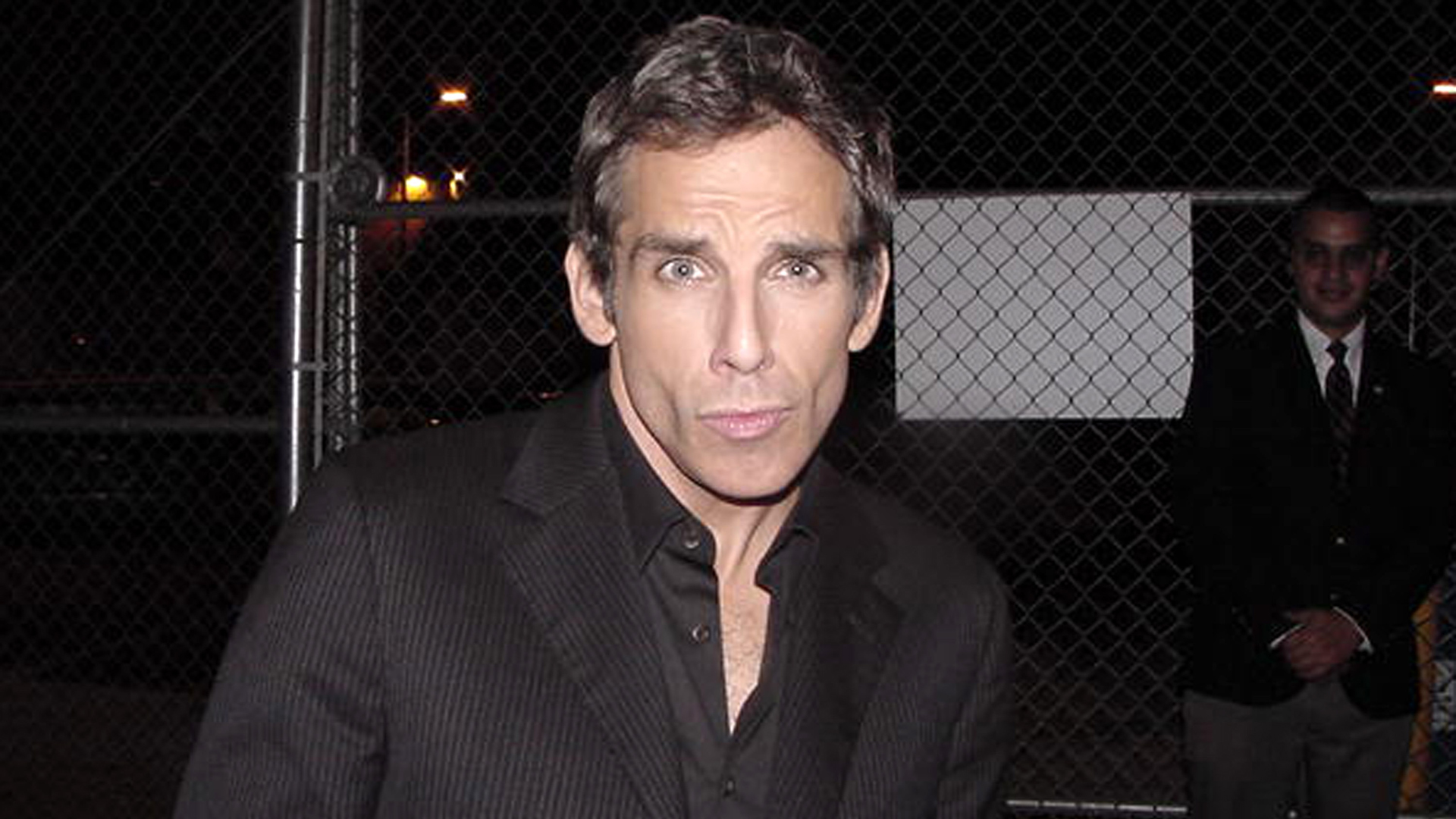 Ben Stiller striking his