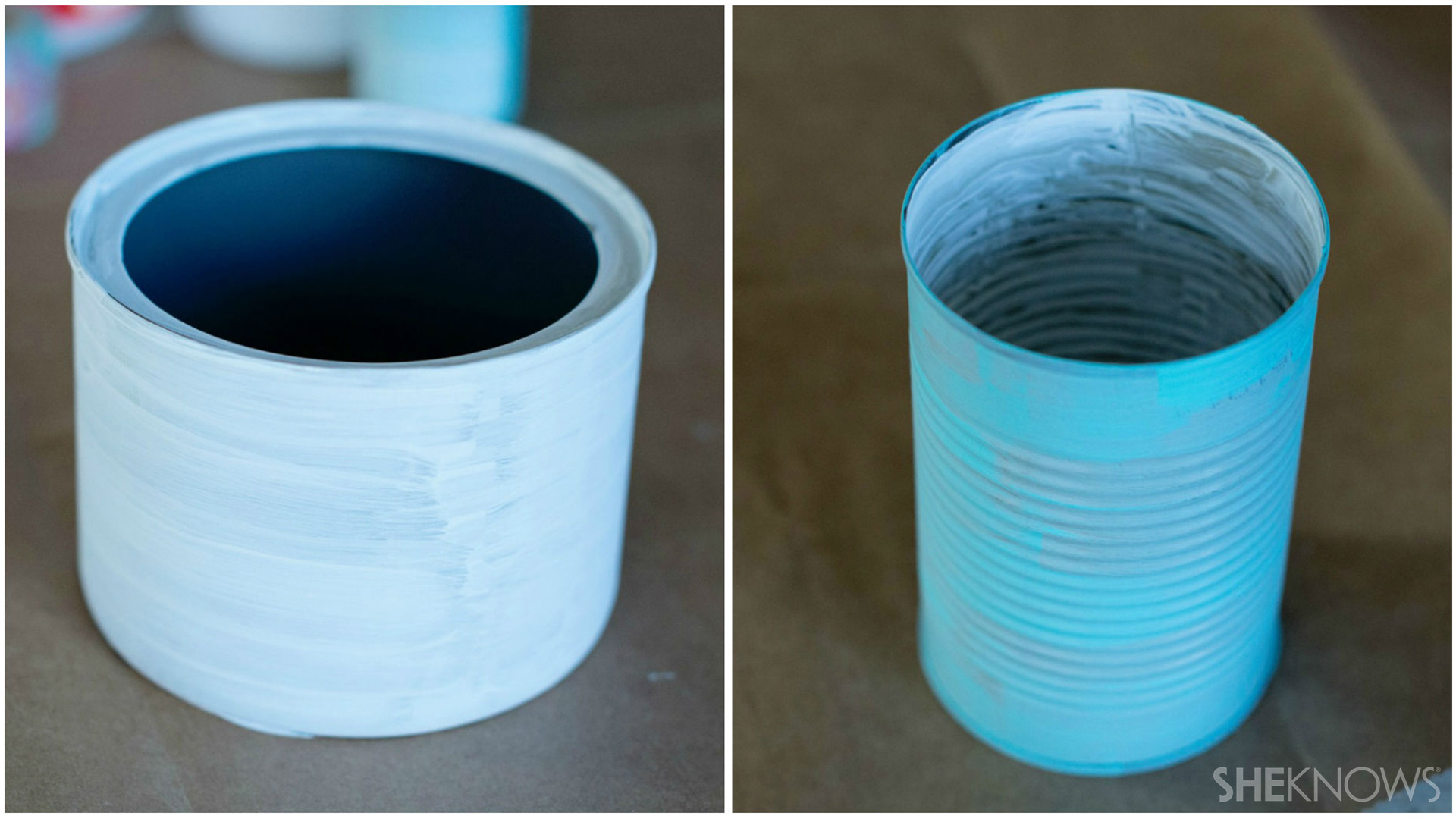 Tin can pencil holder | Sheknows.com - paint