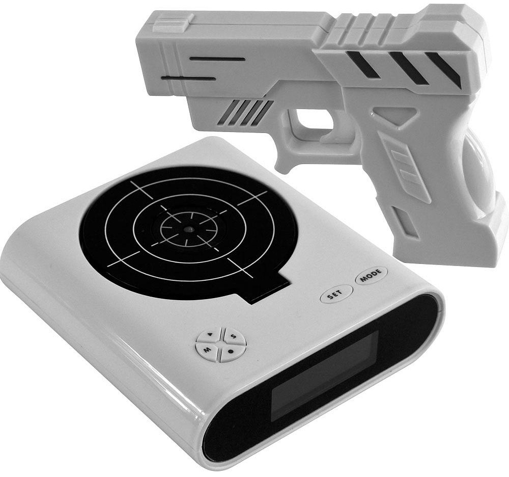 Gun & Target Recordable Alarm Clock | Sheknows.com