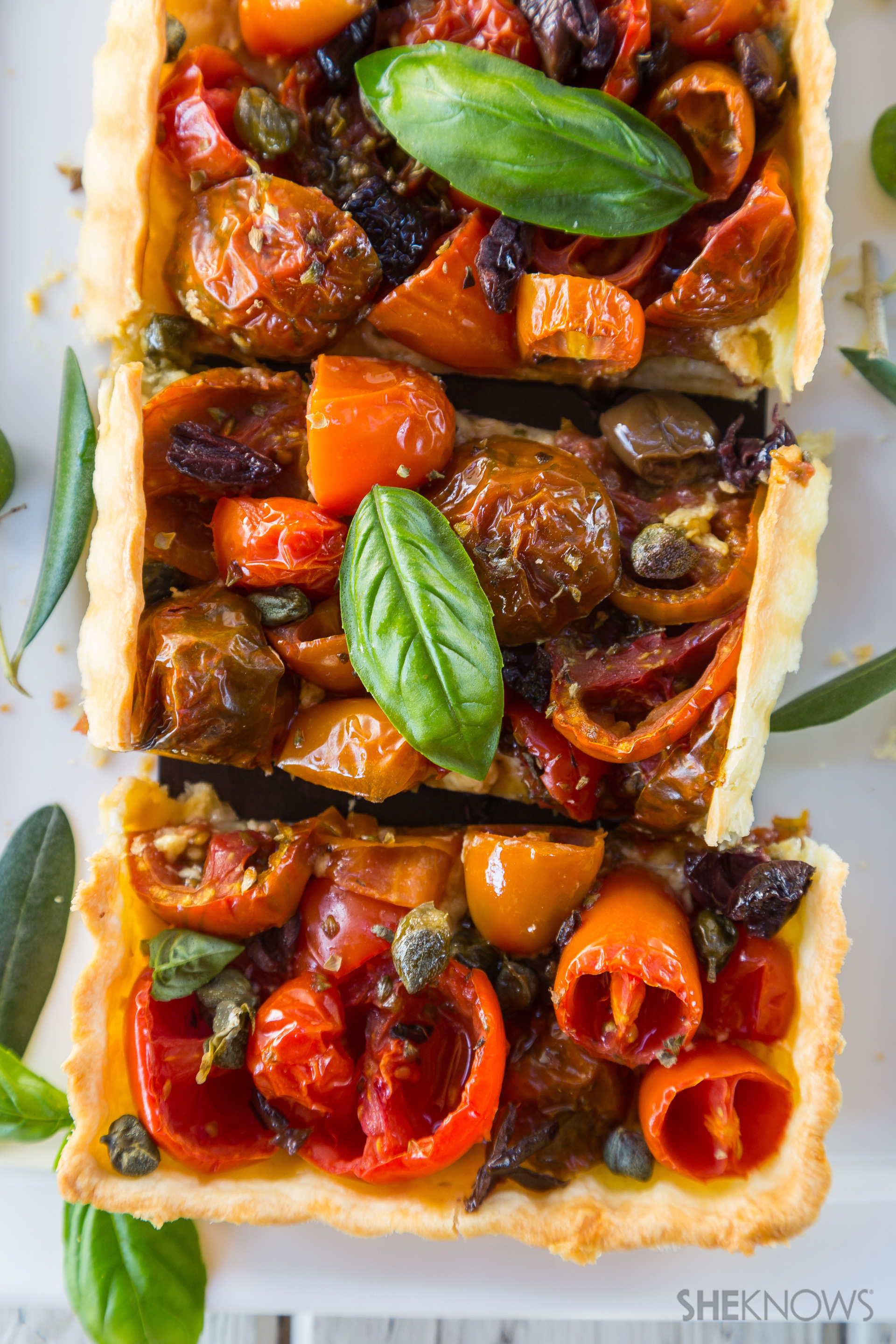Savory Summer Tarts Recipe — Dishmaps