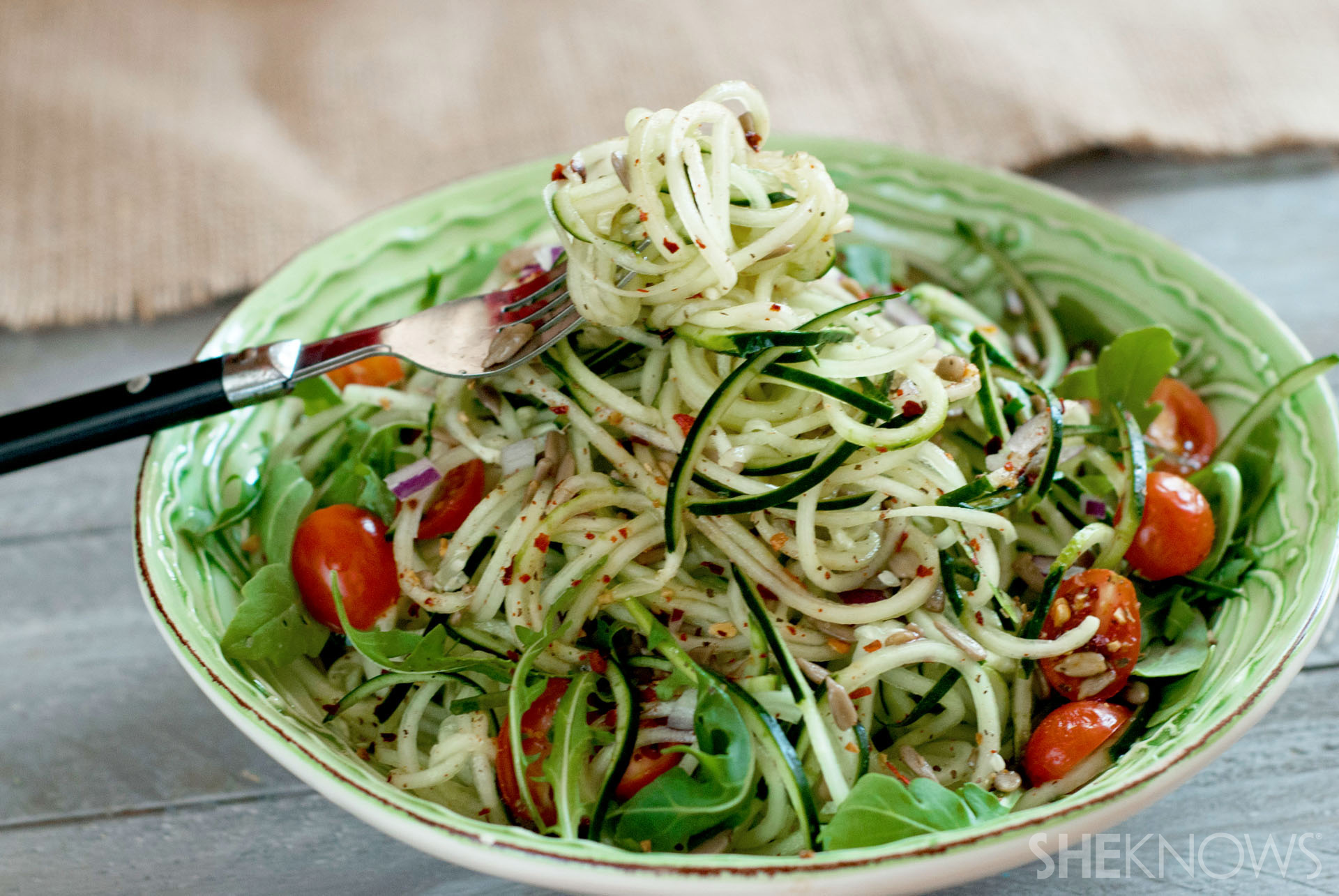 Zucchini noodles? Been there, done that. Cucumber noodles are where it's at.