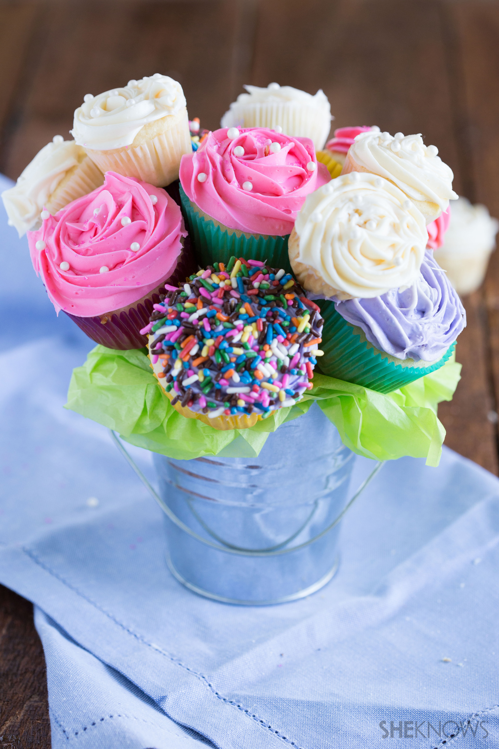 The cupcake bouquet... Like getting flowers, but sooo much sweeter.