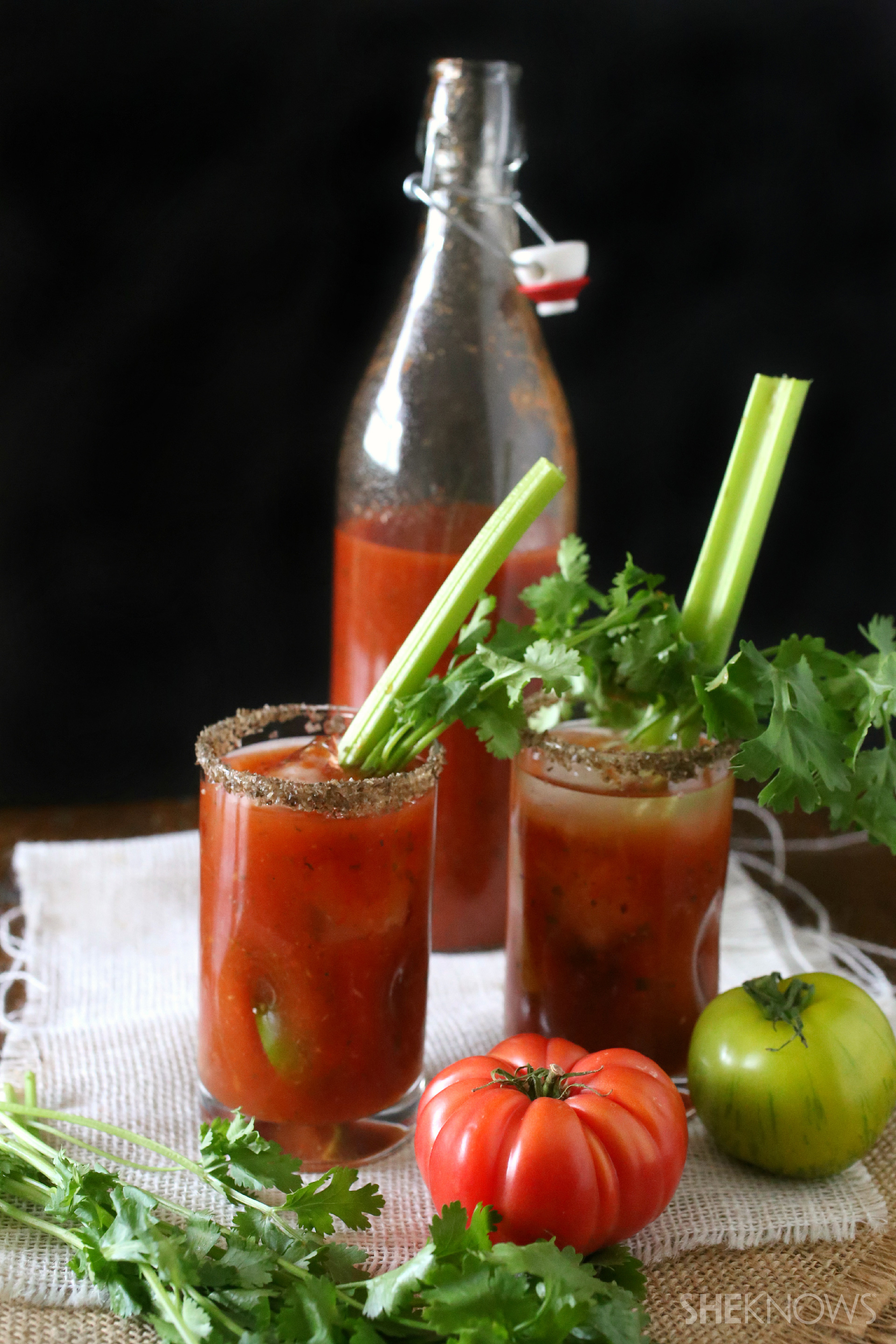 Forget the store-bought kind and mix up your own heirloom bloody marys