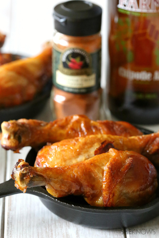 Spicy beer marinaded chicken drumsticks