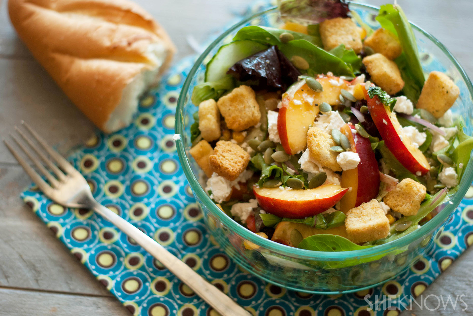 End of summer nectarine salad recipe