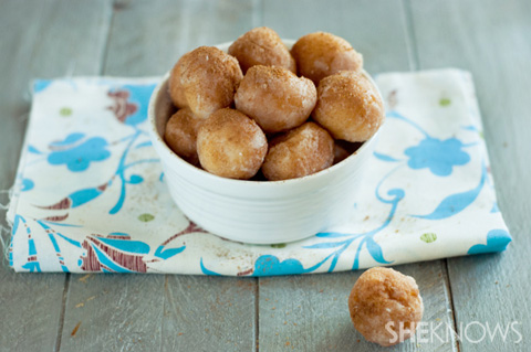 Cinnamon coconut sugared doughnut holes recipe