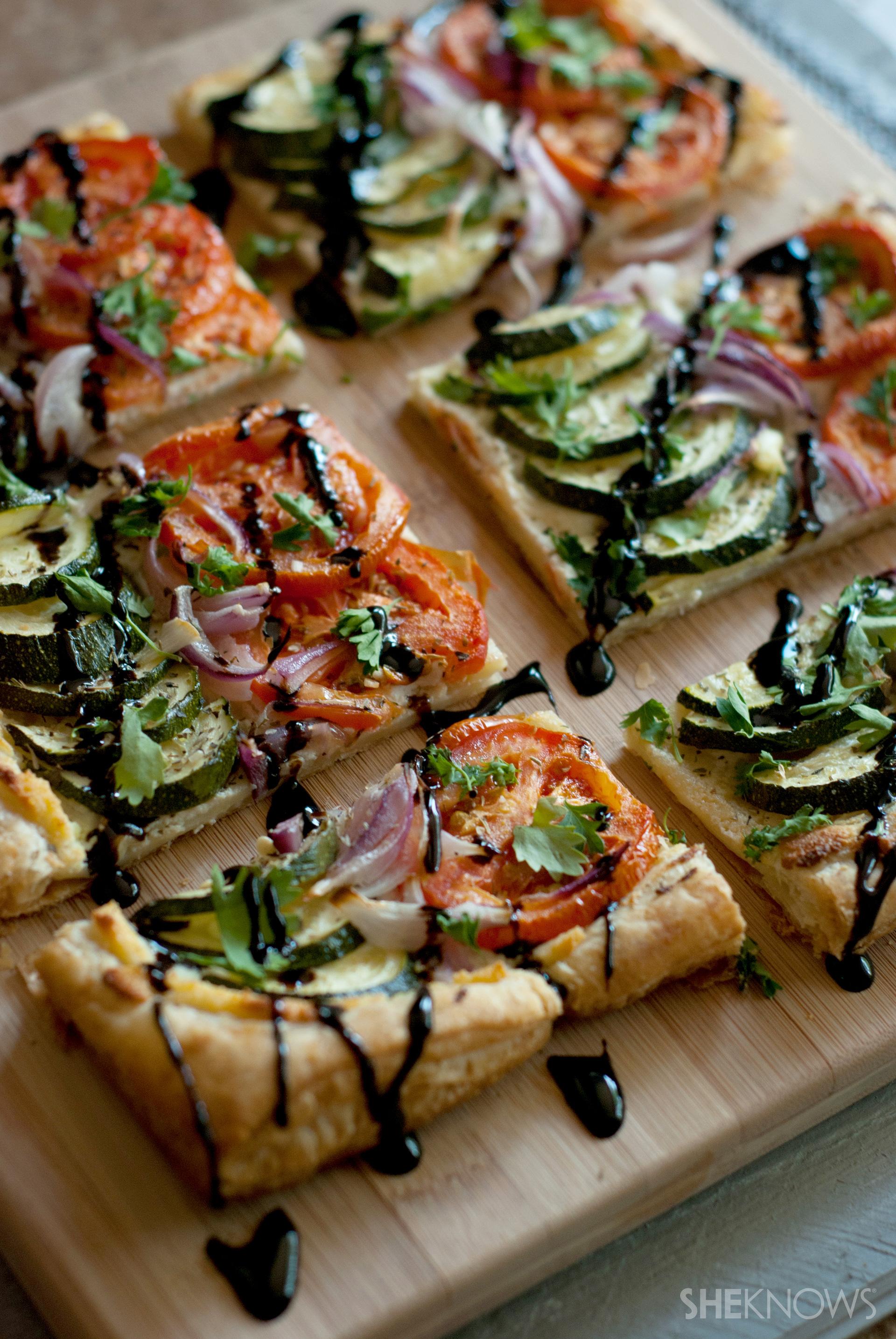 Grilled summer vegetable tarts recipe