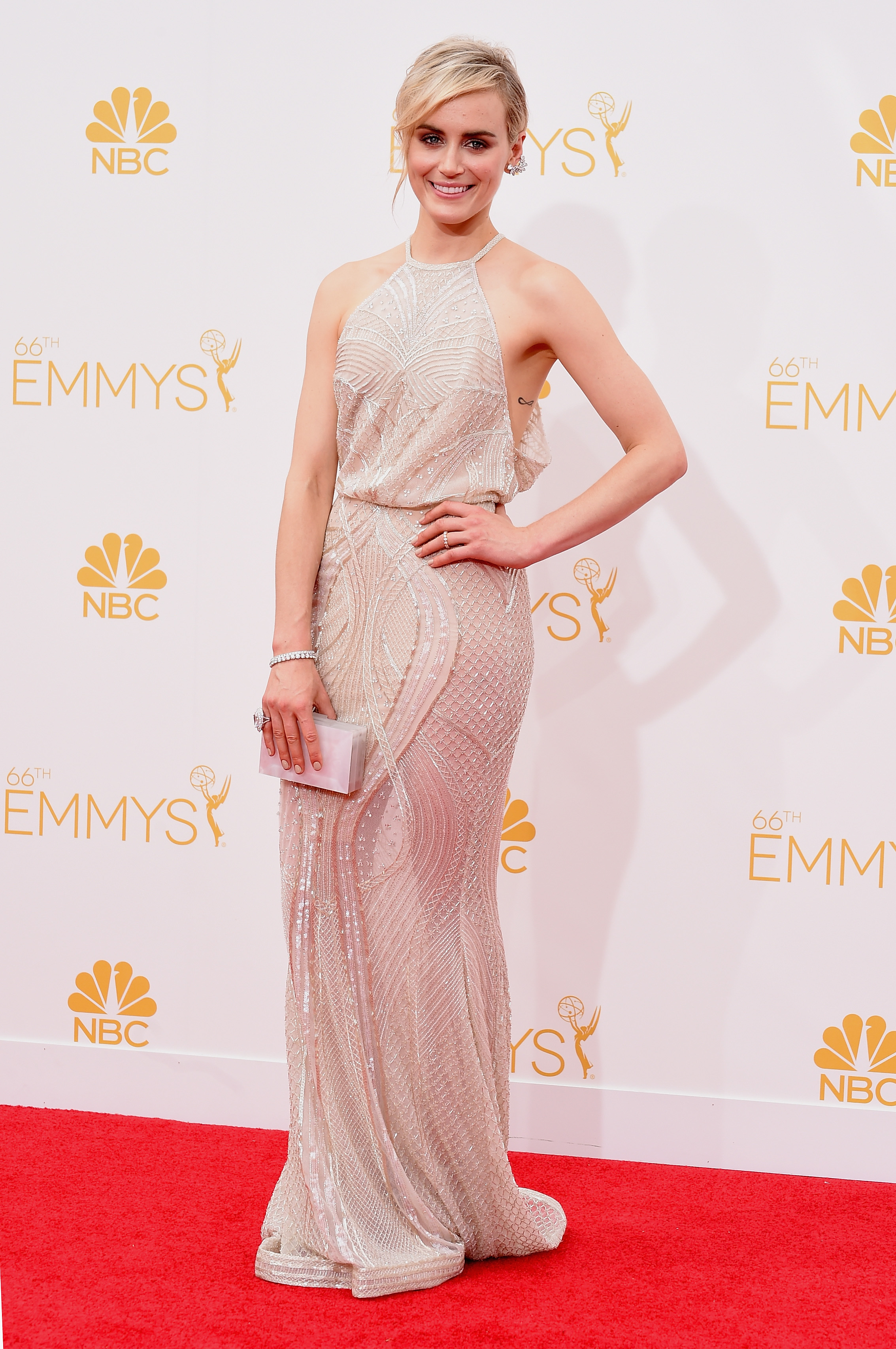 Orange is the New Black's Taylor Schilling stands out at the Emmys