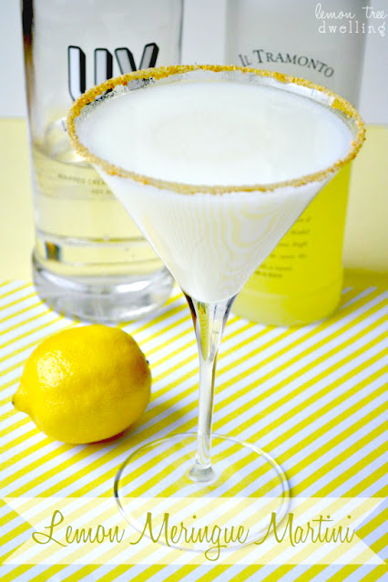 Lemon meringue martini recipe
