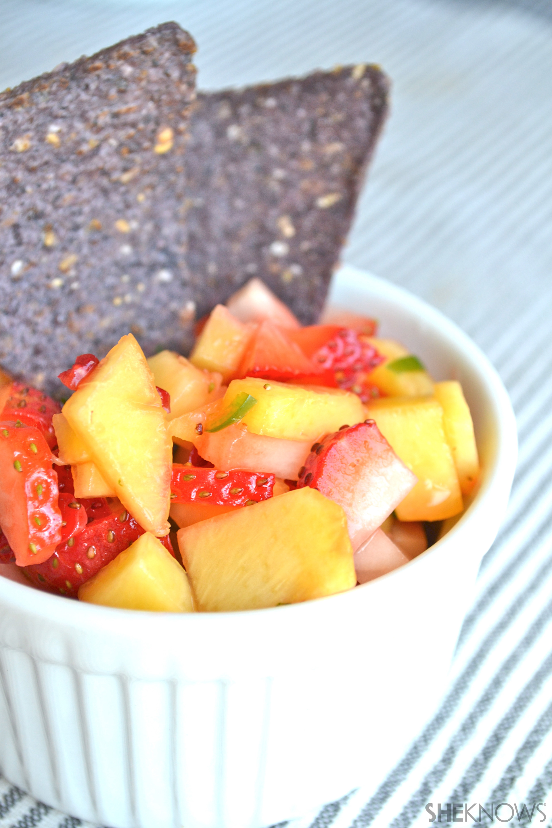 Summer strawberry peach salsa