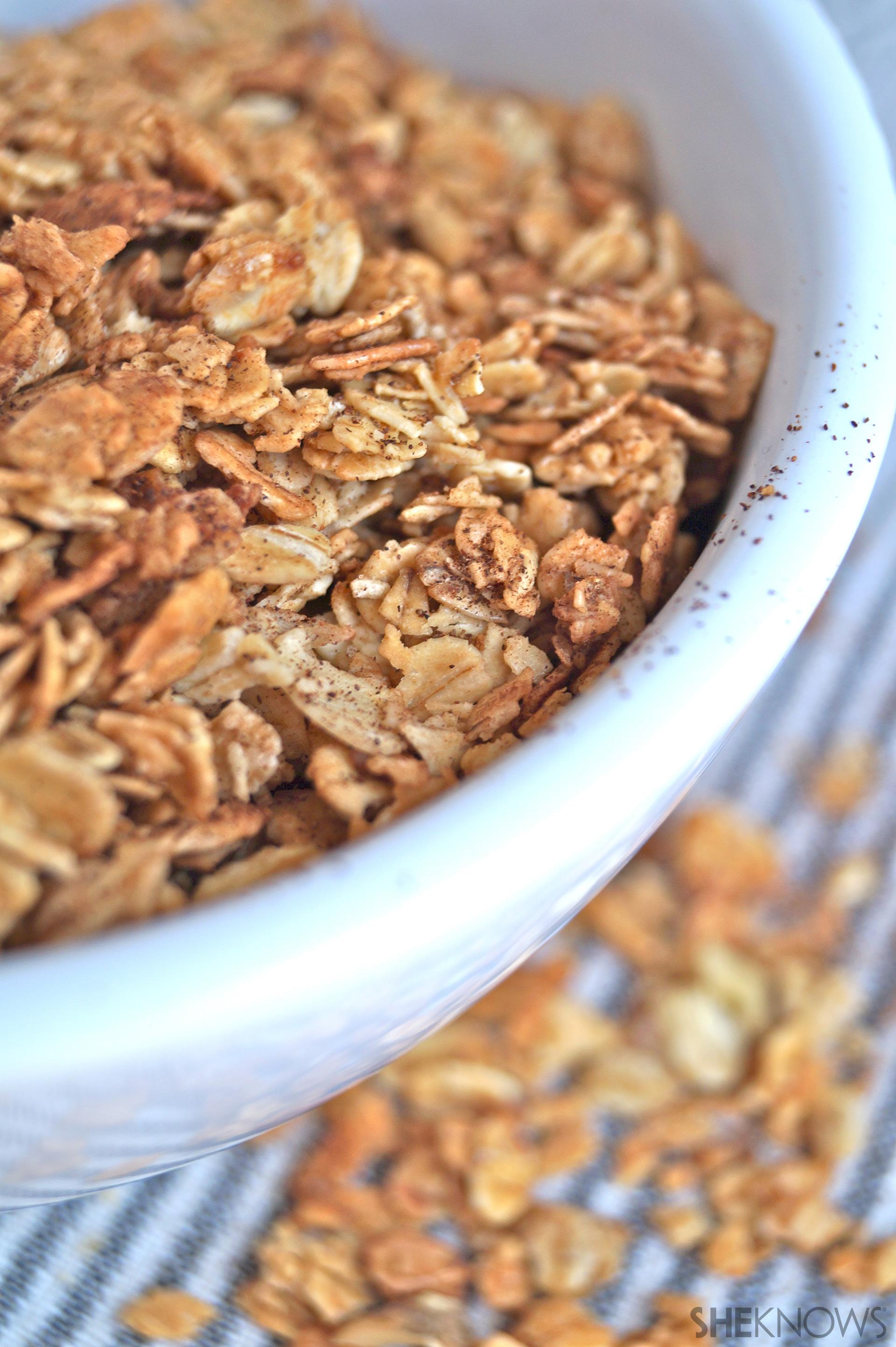 Spiced Cinnamon Granola