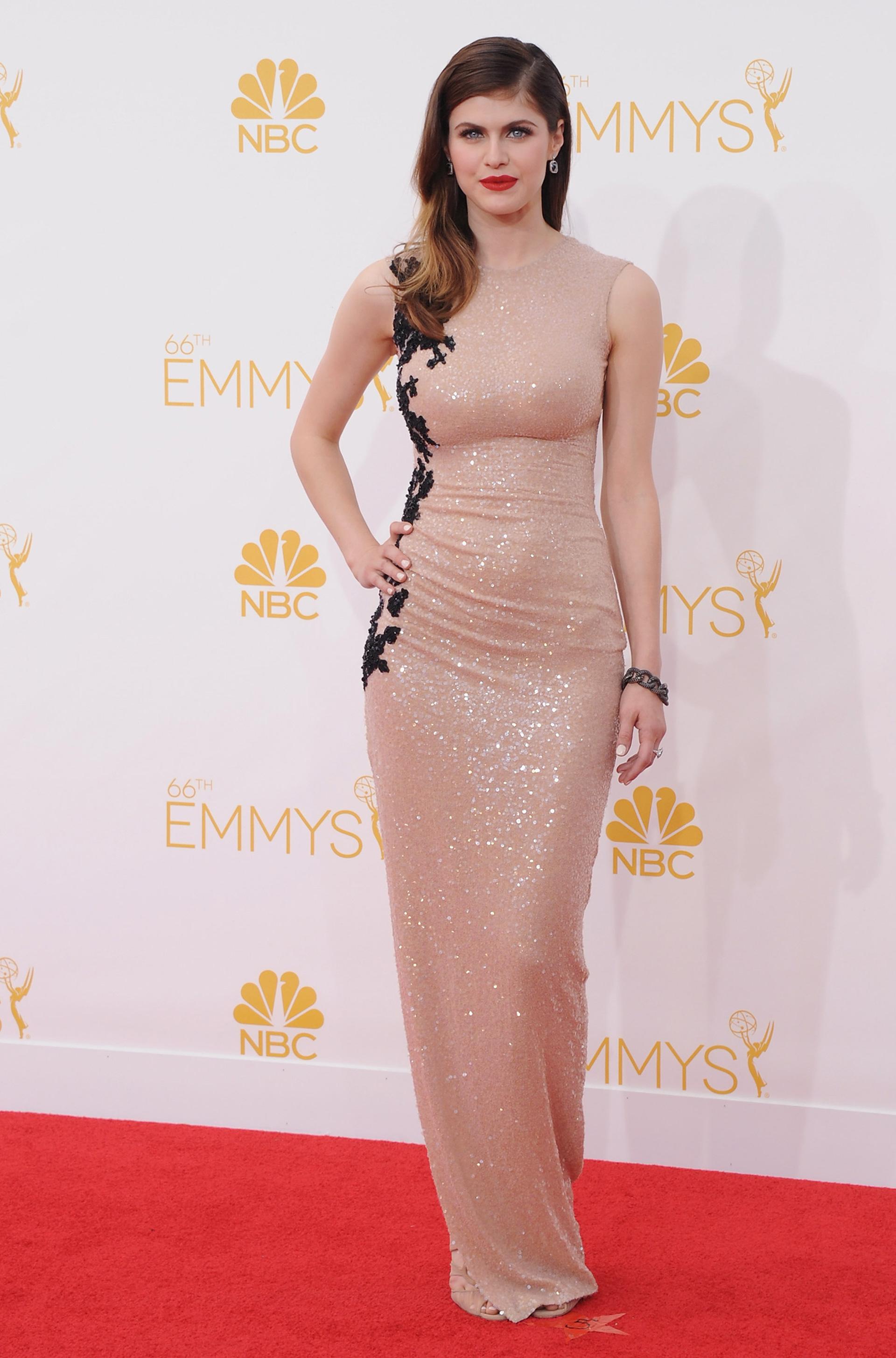 Alexandra Daddario at the Emmy's