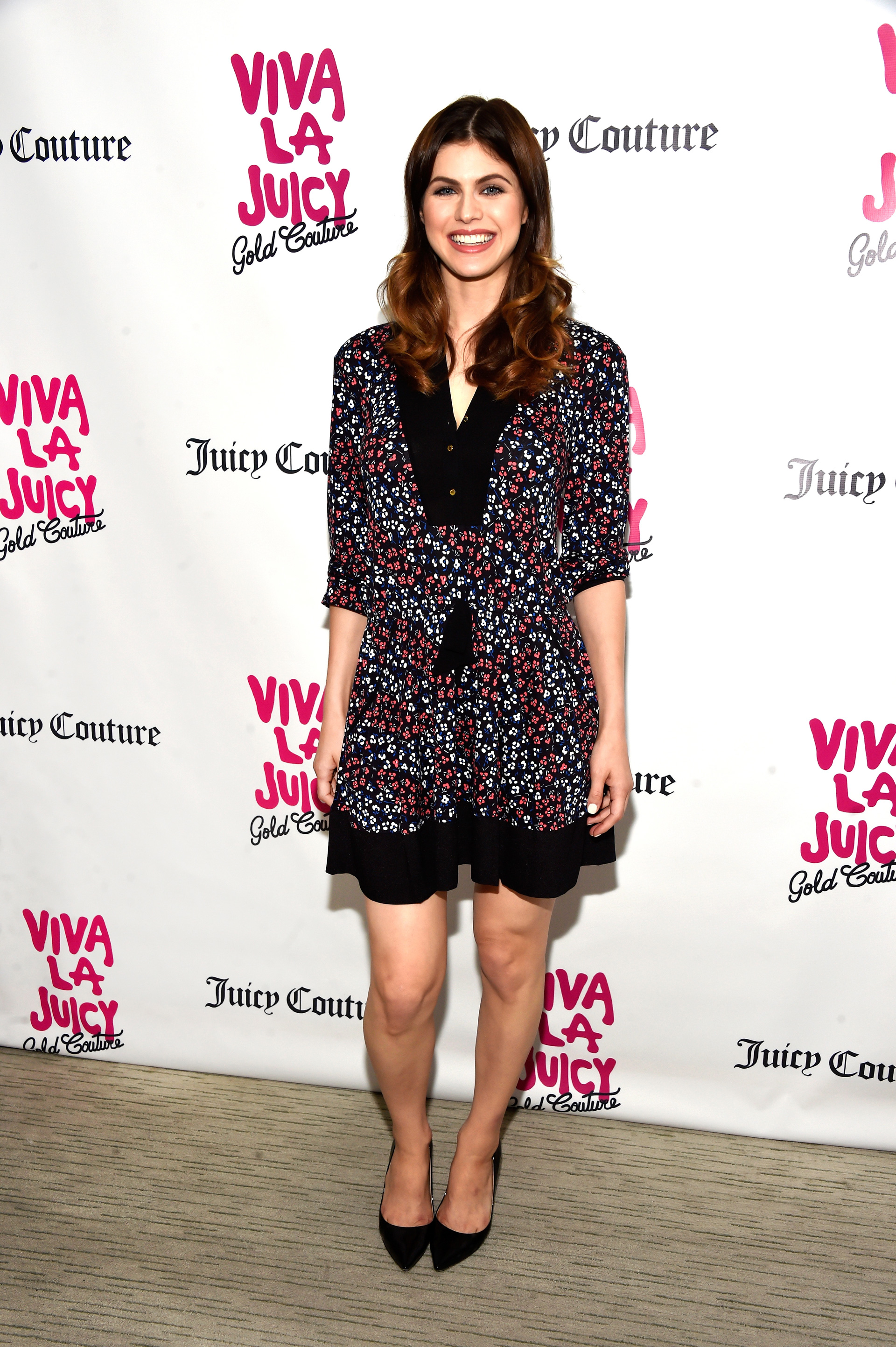 Alexandra Daddario at the Viva La Juicy Gold Couture fragrance launch