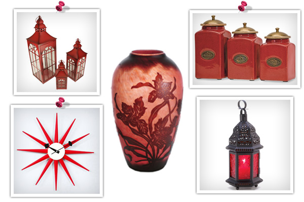 Red feng shui product collage