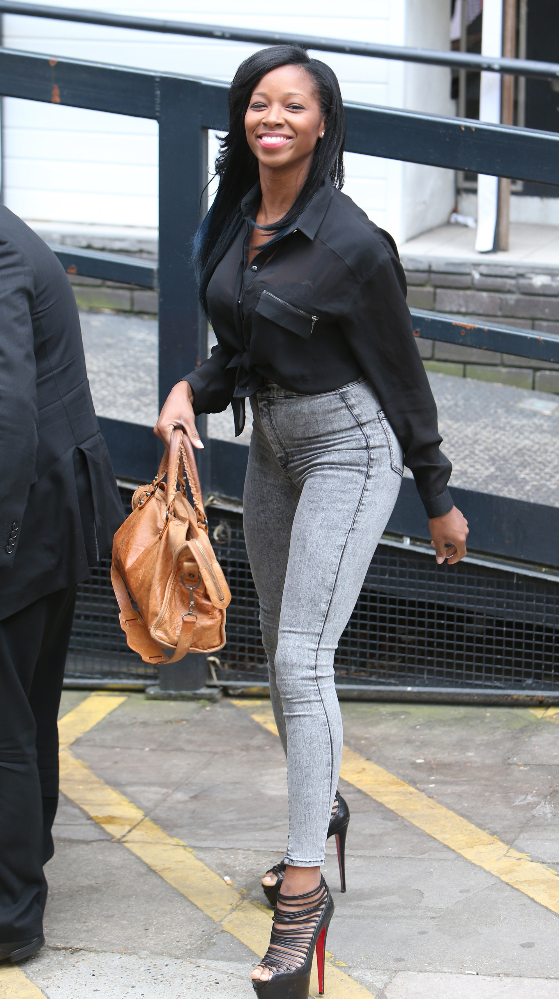 Jamelia outside ITV studios