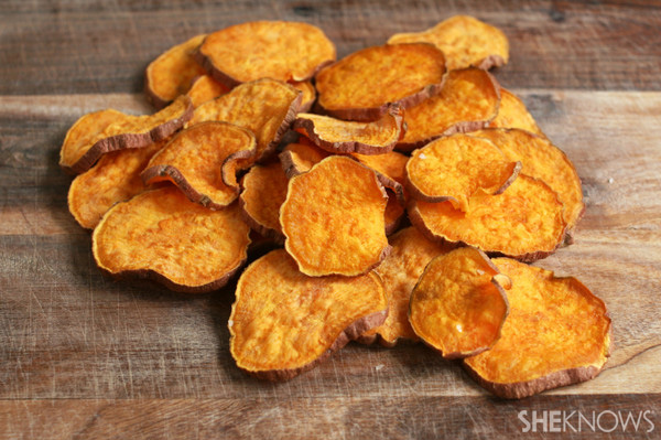 Turn vegetables into chips for a healthy snack
