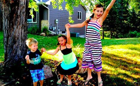 Galit Breen's kids by tree