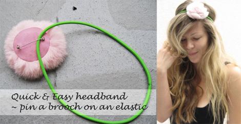 Easy brooch headband