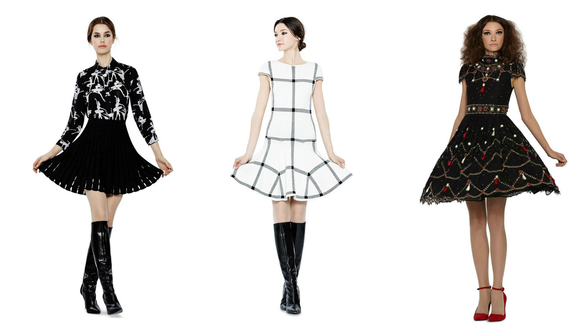 Three Alice + Olivia dresses