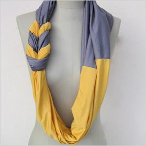 DIY t-shirt scarf
