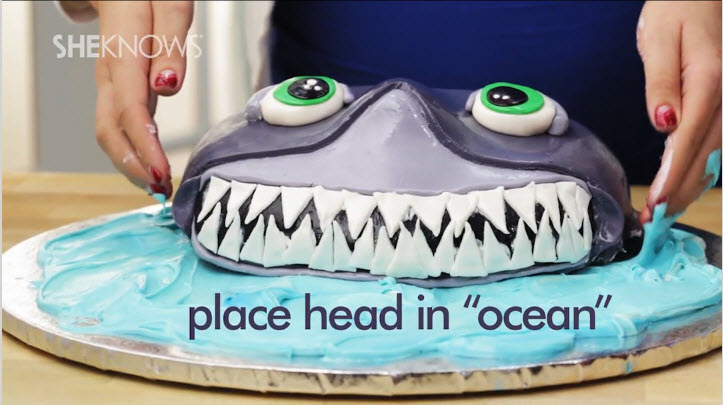 This shark cake just might keep you on the beach